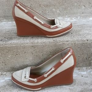 Tommy hilfiger leather wedge.  Size 6.5